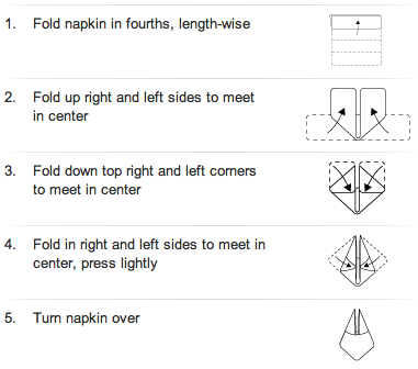 Free Folding Table Images Napkin Weddings Ideas