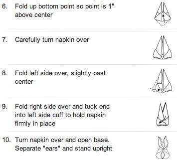 Table Napkin Folding Instructions Photograph Foldin