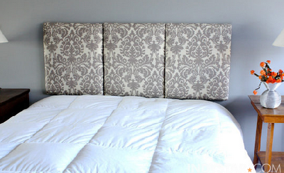 A beautiful customized headboard. For complete instructions visit here.  Thanks, Lesley!