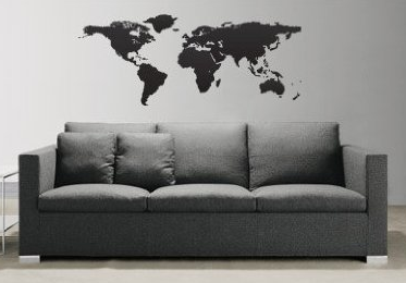 Decorating kids rooms with maps design dazzle for Executive world map wall mural