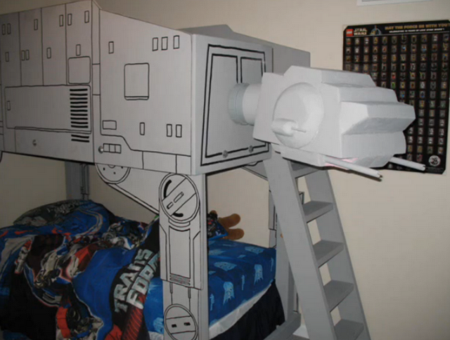 Star Wars Kids Rooms, walking droid, walking droid bed, star wars