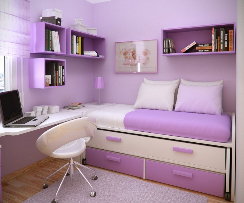 Purple in Tween and Teen Bedrooms - Design Dazzle on Small Room:yi04Pfnkpjo= Teenage Bedroom Ideas  id=12128