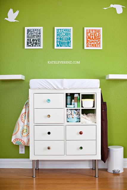 15 Awesome Ikea Hacks, storage unit, ikea, changing table