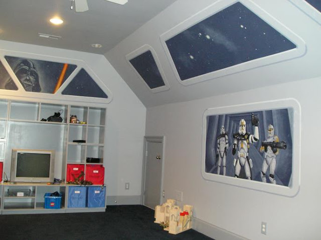 Star Wars Kids Rooms, star wars, star wars mural