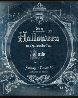 It's a Witches Tea Halloween Invitation