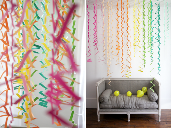 Decorating With Fiestaware DIY Party Streamers Decor Design Dazzle