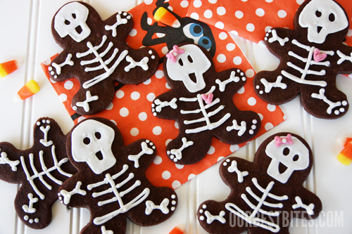 DIY Halloween Edibles that are spooky and delicious! Skeleton Cookies are almost too cute,... I mean scary to eat!