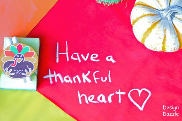 A Thanksgiving Table Perfect For Kids, have a thankful heart, thanksgiving, centerpiece