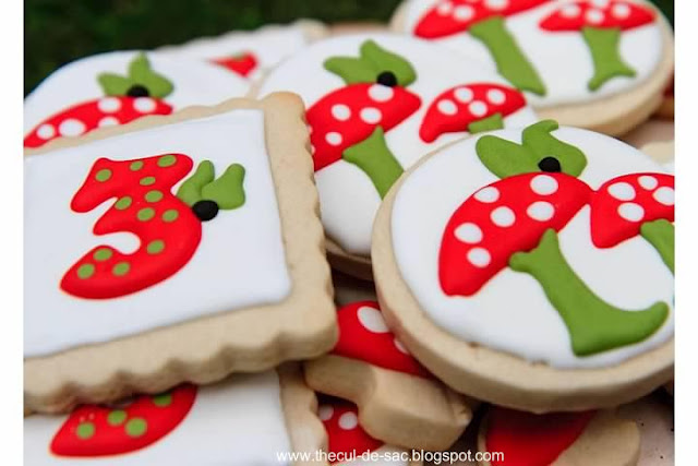 Woodland Fairy Birthday Party, cookies, birthday dessert, toadstool, fairies