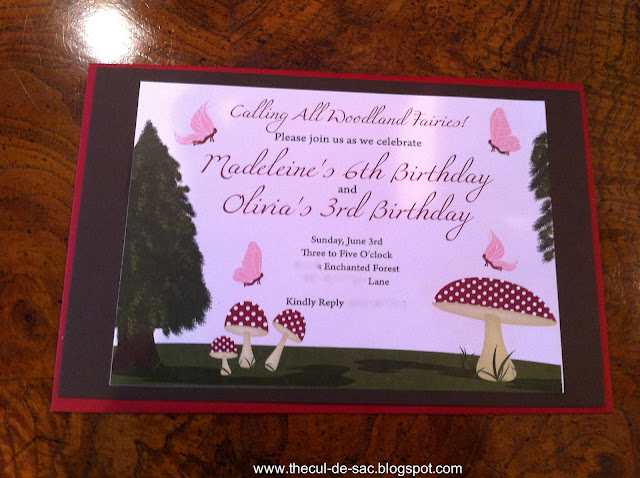 Woodland Fairy Birthday Party by Alexis, from The Cul-De-Sac, is whimsical and dreamy! Sweet invitations!
