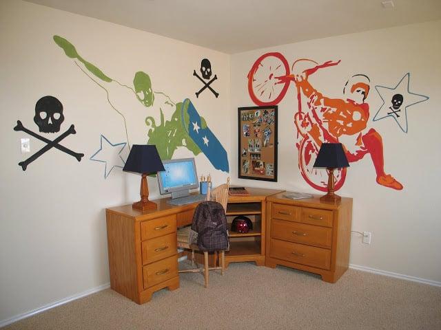 Xgames boys room design dazzle for Bmx bedroom ideas