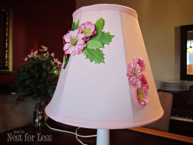 anthropologie inspired flower lamp shade design dazzle. Black Bedroom Furniture Sets. Home Design Ideas