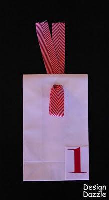 DIY Advent Calendar: Free Printables, advent calendar, christmas, red, ribbon