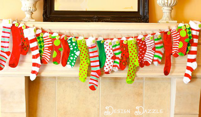 kids advent countdown with holiday activities - Design Dazzle