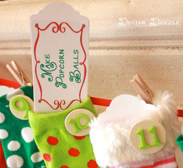 kids advent countdown with holiday activities