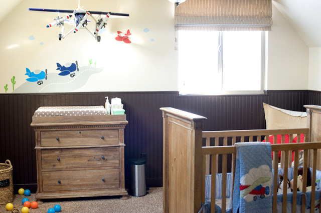 Airplane Nursery, airplanes, cribs, quilts, boys rooms