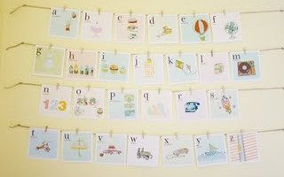 Freebie Printable: Retro Vintage Alphabet Cards