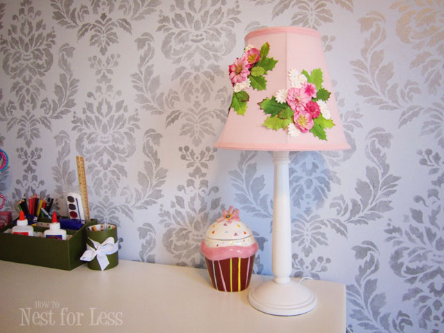 Anthropologie inspired flower lamp shade design dazzle anthro inspired flower lamp shade easy diy project for a little girls room featured on mozeypictures Gallery