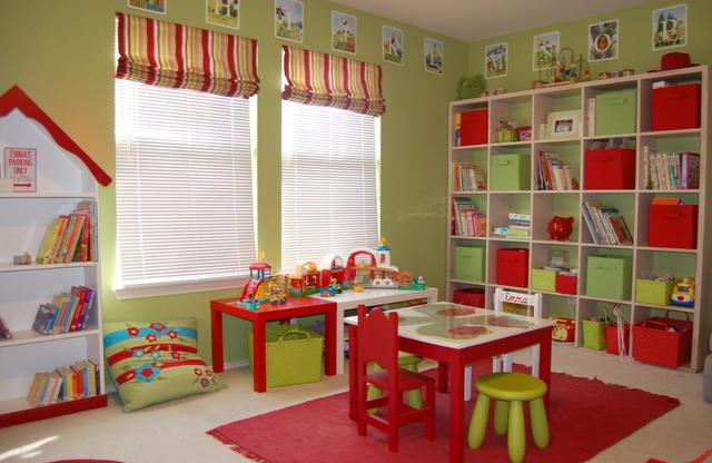 apple green playroom