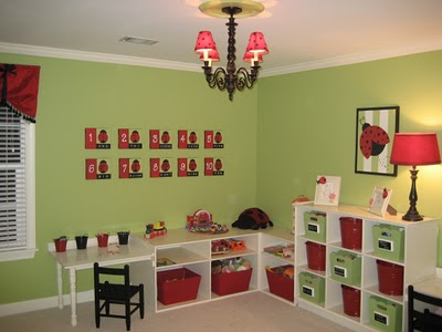green and red playroom