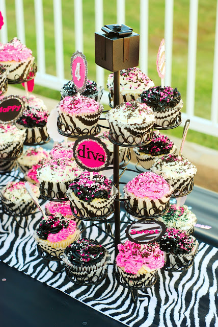 black and pink zebra party