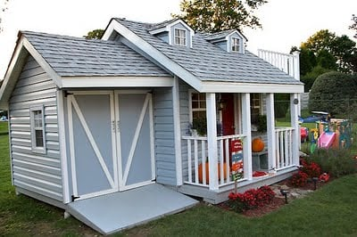 A Little Boys Very Charming Playhouse Design Dazzle – Playhouse With Garage Plans