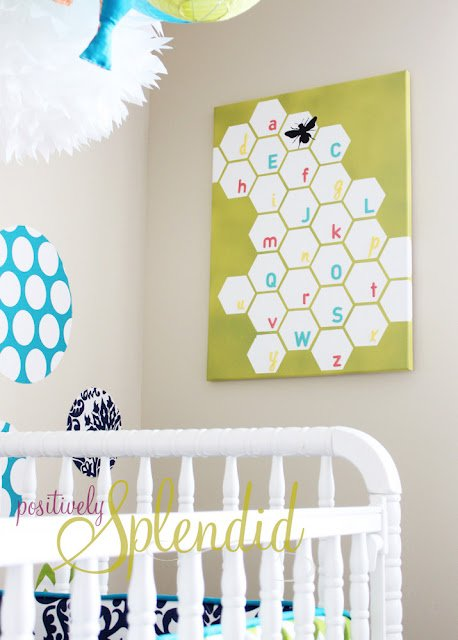 Honeycombs, Chevrons and Zebra Girls Room! This room is daring and fun!