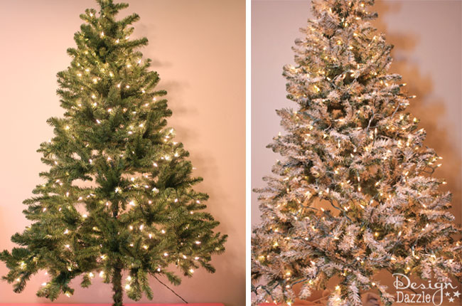 How to paint and glitter a Christmas tree - Design Dazzle