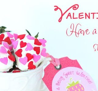 Strawberry Themed Valentine Printable {Free}