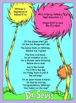 Dr Seuss Baby Shower Design Dazzle