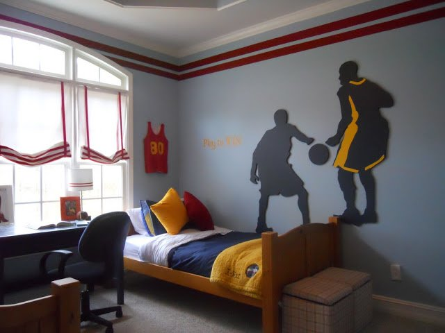 more than a bedroom they share the love of the game basketball