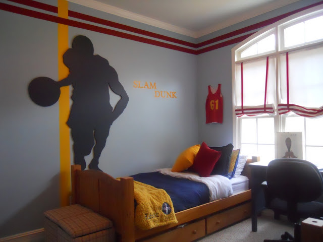 basketball themed bedrooms slam dunk boys room design dazzle 10183