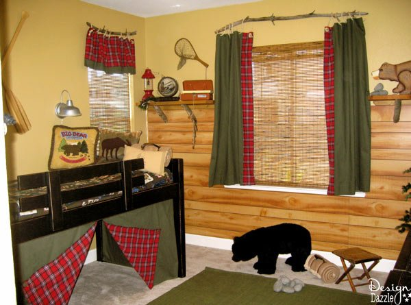 Camping theme room design dazzle for Fishing bedroom decor