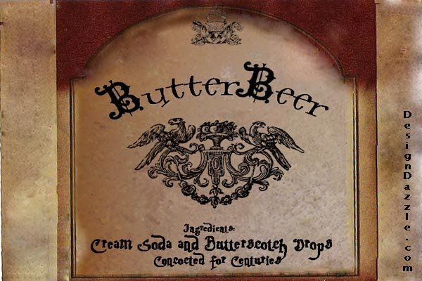 Harry Potter Butterbeer Free Printable and recipe - Design Dazzle