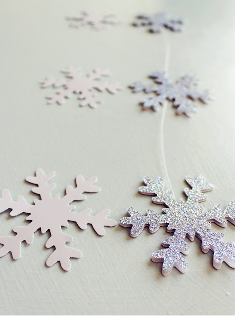 DIY Snowflake Chandelier will make your home magical this Christmas Season! Featured on Design Dazzle