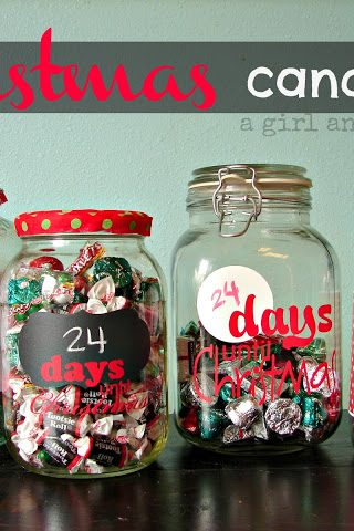 Christmas Wonderful: Christmas Countdown Candy Jars