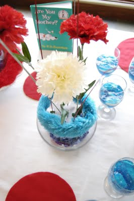 how to make cat in the hat centerpieces