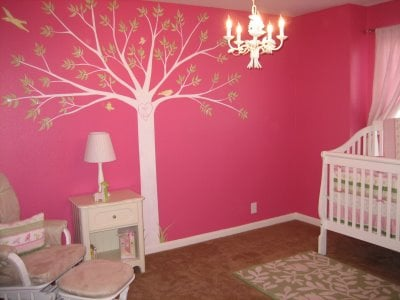 How to paint trees in a kids room design dazzle - Childrens bedroom wall painting ideas ...