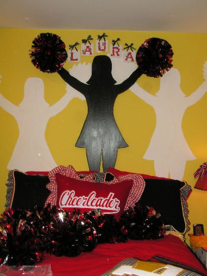 cheerleader theme room design dazzle