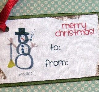 Children Designed Gift Tags