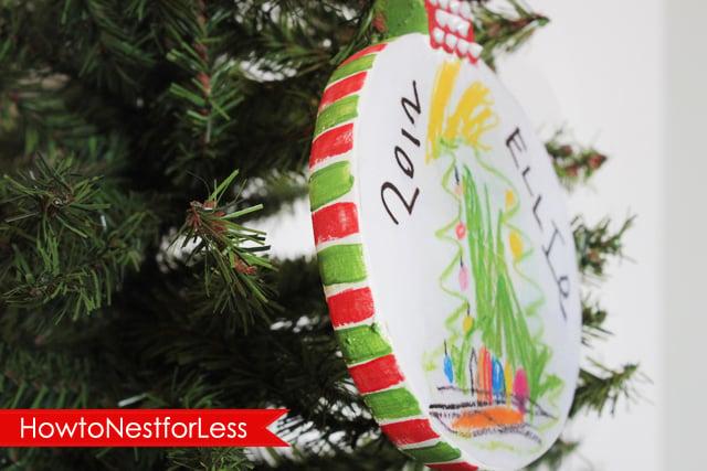 Modge Podge Ornaments featured on Design Dazzle