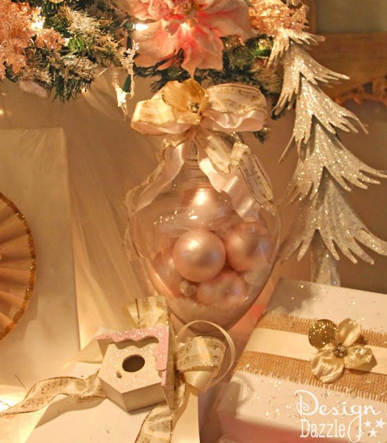 Pink, creams and gold Christmas decorations - Design Dazzle