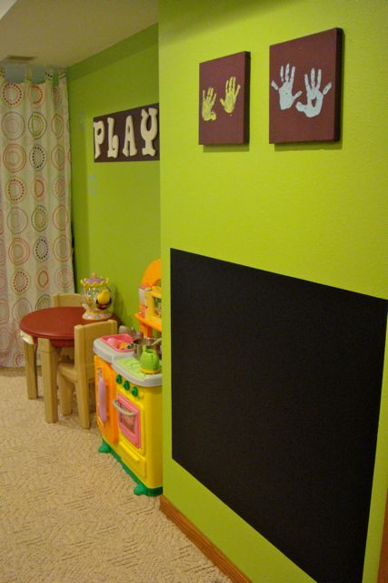 Bright Green Walls Fabulous For A Playroom Jenni Mcentaffer Kids Is Vibrant And Colorful What I Love Most The Personalized Hand Print Art Done