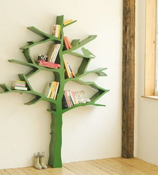 Whimsical Tree Bookshelf