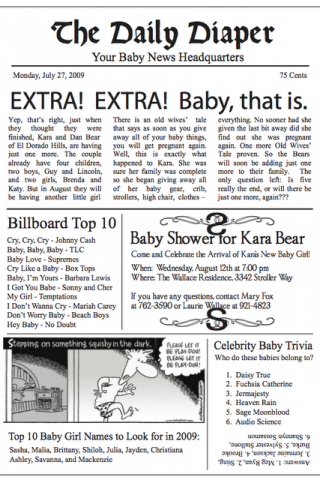 Fabulous Idea For A Baby Shower Invitation