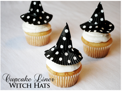 Cupcake Liner Witch Hats! Easy DIY craft and super cute!