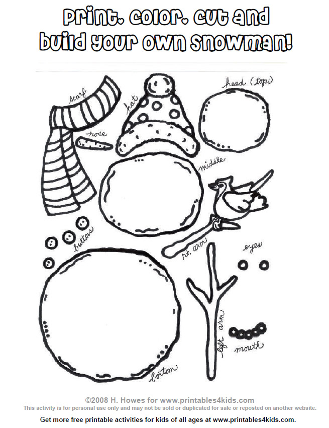Build your own snowman kit! Featured on Design Dazzle