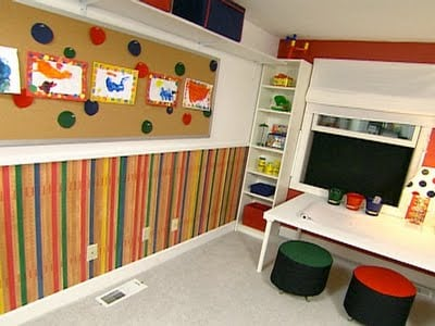 Clever playroom ideas for kids design dazzle - Boys rooms with playrooms ...