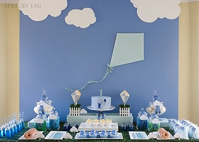 Sky Blue table backdrop featured on Design Dazzle