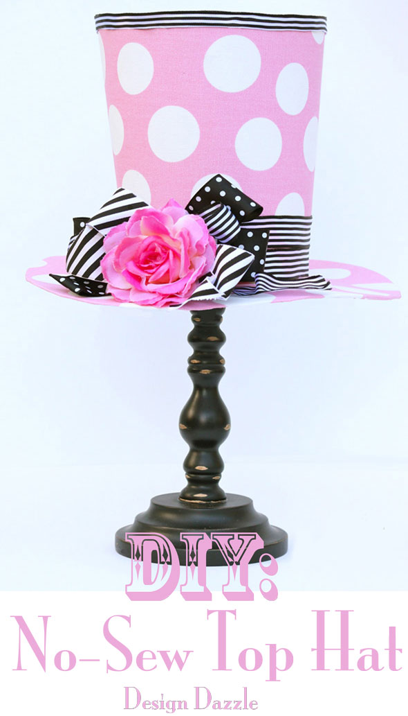 DIY Top Hat Decoration by Design Dazzle! Easy and fun to make! Will certainly add a pop to your decor!